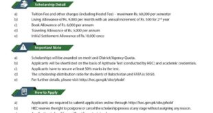 hec scholarships for balochistan
