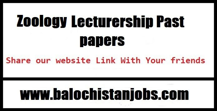 Zoology past papers pdf