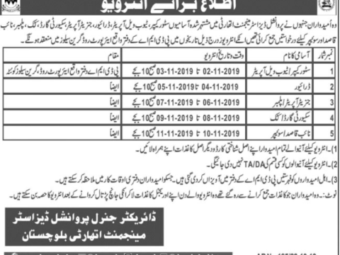 Jobs In Quetta Cantonment board 2019