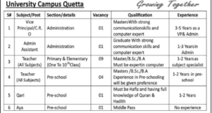 allied-school quetta jobs 2020