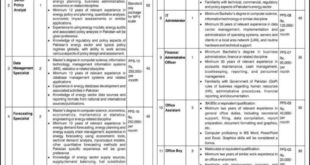 Pakistan Energy Sector Planning Commission March 2020 Latest Jobs IEP Director, Senior Policy Analyst, Data Management Specialist & Others