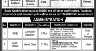 Quetta Institute Of Medical Sciences QIMS Jobs March 2020